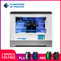 Flashforge 3D Printer 2018 FDM Dreamer Dual color print WIFI and touchscreen W/4 Spool Fully Assembled 3D Drucker