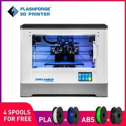 Flashforge impresora 3d, dreamer, bricolaje de doble extrusora, empresas grado, completamente cerrado cámara, W / 2 envío carretes, envío gratis