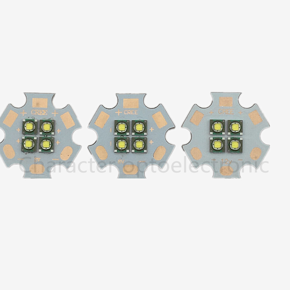 1/2/5/10pcs/lot Cree XPE 4Chip 3V/6V/12V LED Cool white 6000-6500k Emitter instead of MCE XML LED with 20MM Cooper PCB sitemap 32 xml