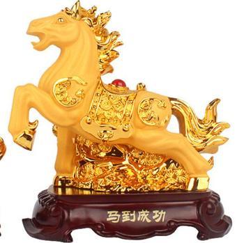 Sand Gold Desktop Arrangement Material: Resin Zodiac Horse sheep Monkey chicken Dog pig crafts fortune gold home decoration