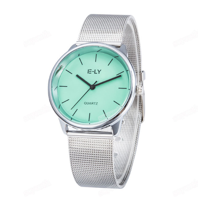 Colorful Dial Mesh Stainless Steel Watch 4