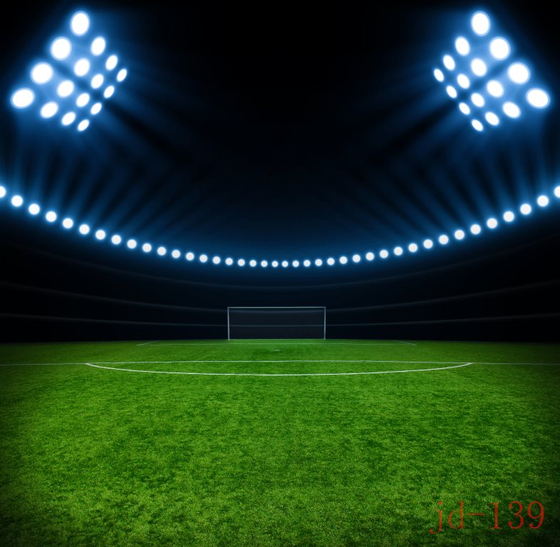 Football Stadium Night Lights: 10x10FT Dark Blue Spots Light Stadium Soccer Green