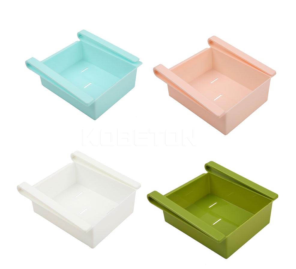 ABS Portable Slide Kitchen Fridge Freezer Space Saver Organizer ...