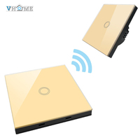 Vhome UK EU Standard Touch Switch Wall Light Touch Screen Switch With Wall Stickers Remote Control