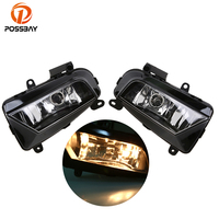 POSSBAY Car Front Fog Lamps Fog Lights Halogen Car Styling Fit for Audi A4 Sedan/Avant 2013/2014/2015/2016 8KD941699B