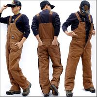 M 3XL Men's Canvas thickened one piece cotton bib pants uniforms wear resistant overalls warm loose large size work pants