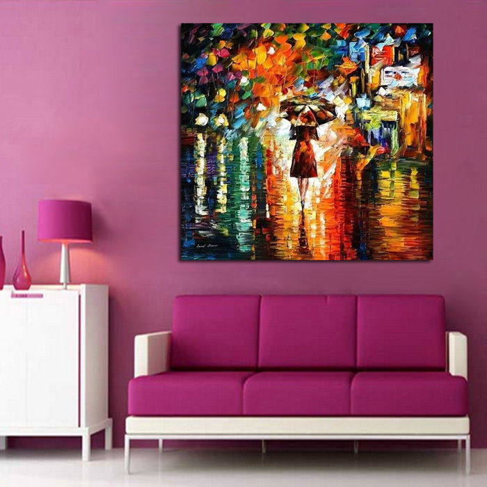Aliexpress.com : Buy 100%Handpainted Abstract Back Home Knife Oil Painting  On Canvas Thick Oil Paintings For Home Decor As Best Gift From Reliable  Knife Oil ...