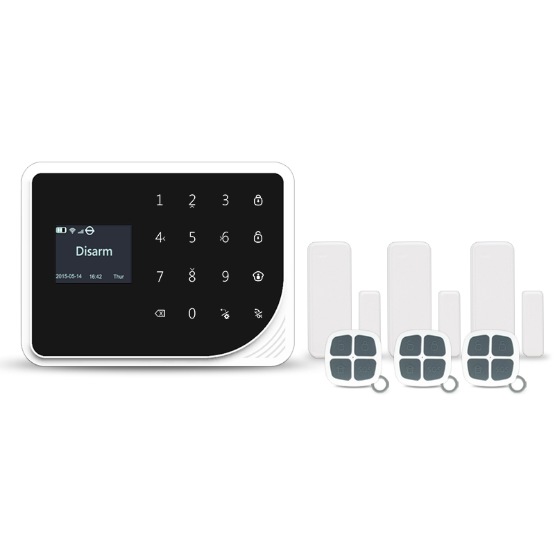 Newest 433mhz gsm wifi home alarm system APP control wireless burglar alarm Russian language menu/voice alarm system цена