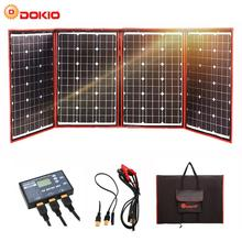 Dokio Black Solar Panels 200W (50Wx4pc) 18V China Foldable + 12V Controller Battery Charge Motorhome RV Car