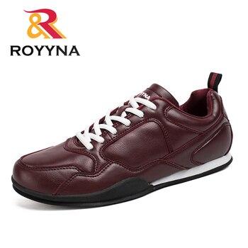 ROYYNA 新ファッションスタイル男性カジュアルシューズ快適なレースアップマイクロファイバー男性靴通気性ライトソフト男性フラッツ送料無料