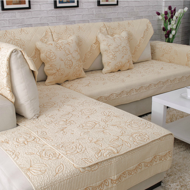 1piece Europe Style Sofa Covers Cotton Fabric Flower Pattern Towel Soft Slipcover Couch Cover For