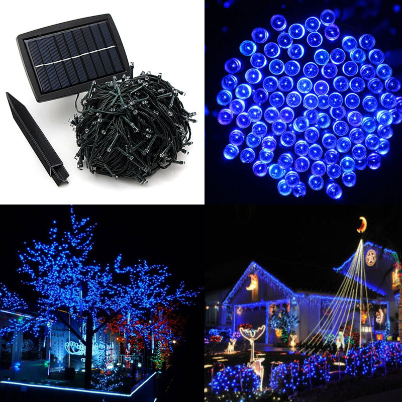 50M 500 LED Solar Powered Fairy Strip Light For Xmas Festival Lights String Rechargeable Batteries For