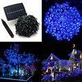50 M 500 LED Cadena Luz de Tira para el Festival de Navidad Luces de Hadas Accionadas Solares baterías recargables Para la Decoración de Jardín