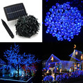50M 500 LED Solar Powered Fairy Strip Light for Xmas Festival Lights String rechargeable batteries For Decorating Garden