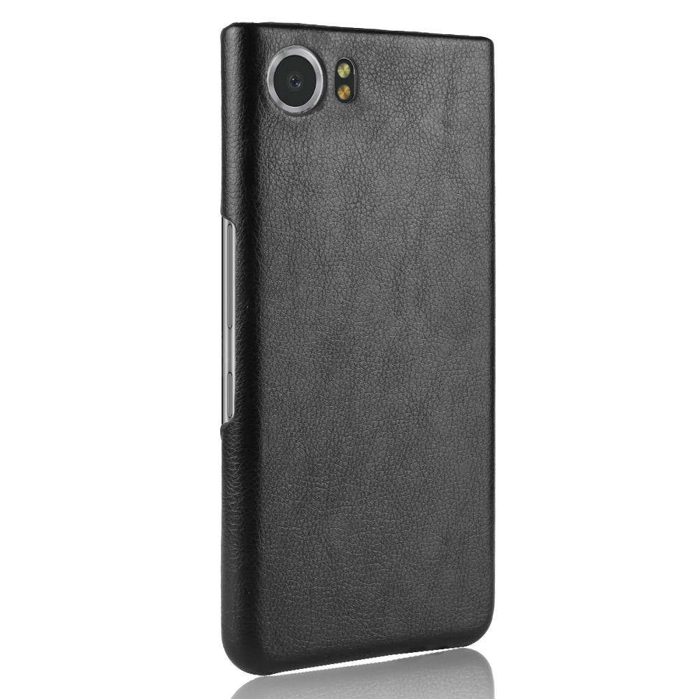 For Key1 Key2 hard Case Litchi Leather PU Cover for Blackberry Key One Two PRIV Q30 Q20 Mercury Dtek70 Edition sliver Phone Case(China)