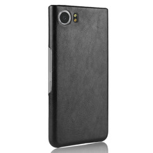 For Key1 Key2 hard Case Litchi Leather PU Cover for Blackberry Key One