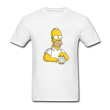 Homer Jay Simpsons Men s Print Formal T-Shirt For Men Costume Comical Weird  boys Tshirt 08b51c93d8d0