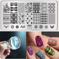 White Clear Jelly Stamper 2.8cm Transparent Nail Stamping Stamp Scraper+Nail Template Image Rctangular Stamping Plate Size6x12cm