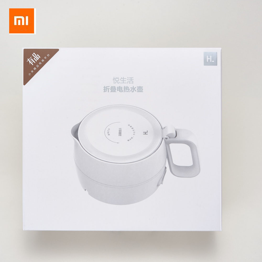 Original Xiaomi Yue Life Kettle 1L Folding Electric Kettle Stainless Steel Chassis Safety Silicone Portable Kettle