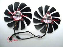 Ventilador cooler para placa de vídeo xfx, ventilador de refrigeração da placa gráfica/vídeo de diâmetro FDC10U12S9-C para xfx rx580 rx584 rx588