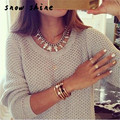 snowshine #1501 Women Long Sleeve Loose Sweater Knitted Sweater Knitwear Cardigan Tops free shipping