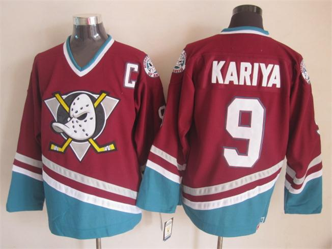 afc78a217 Cheap Mighty Ducks Paul Kariya Jersey Anaheim Ducks Jersey Kariya Purple  Hockey Jerseys ...