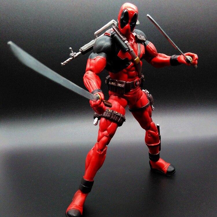 Deadpool 7in 1pcs PVC <font><b>Figures</b></font> <font><b>Marvel</b></font> <font><b>Superhero</b></font> X MAN Action Anime <font><b>Figures</b></font> Kids Gifts Toys 1240
