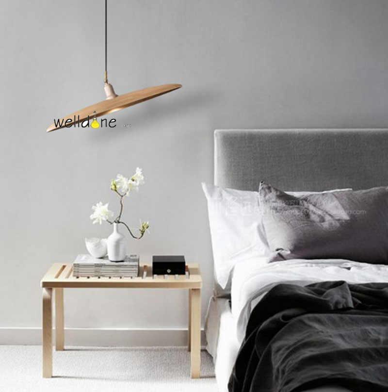 Шляпа деревянный подвесной светильник креативный гостиная/обеденный стол деревянный подвесной светильник с лампами Gu10