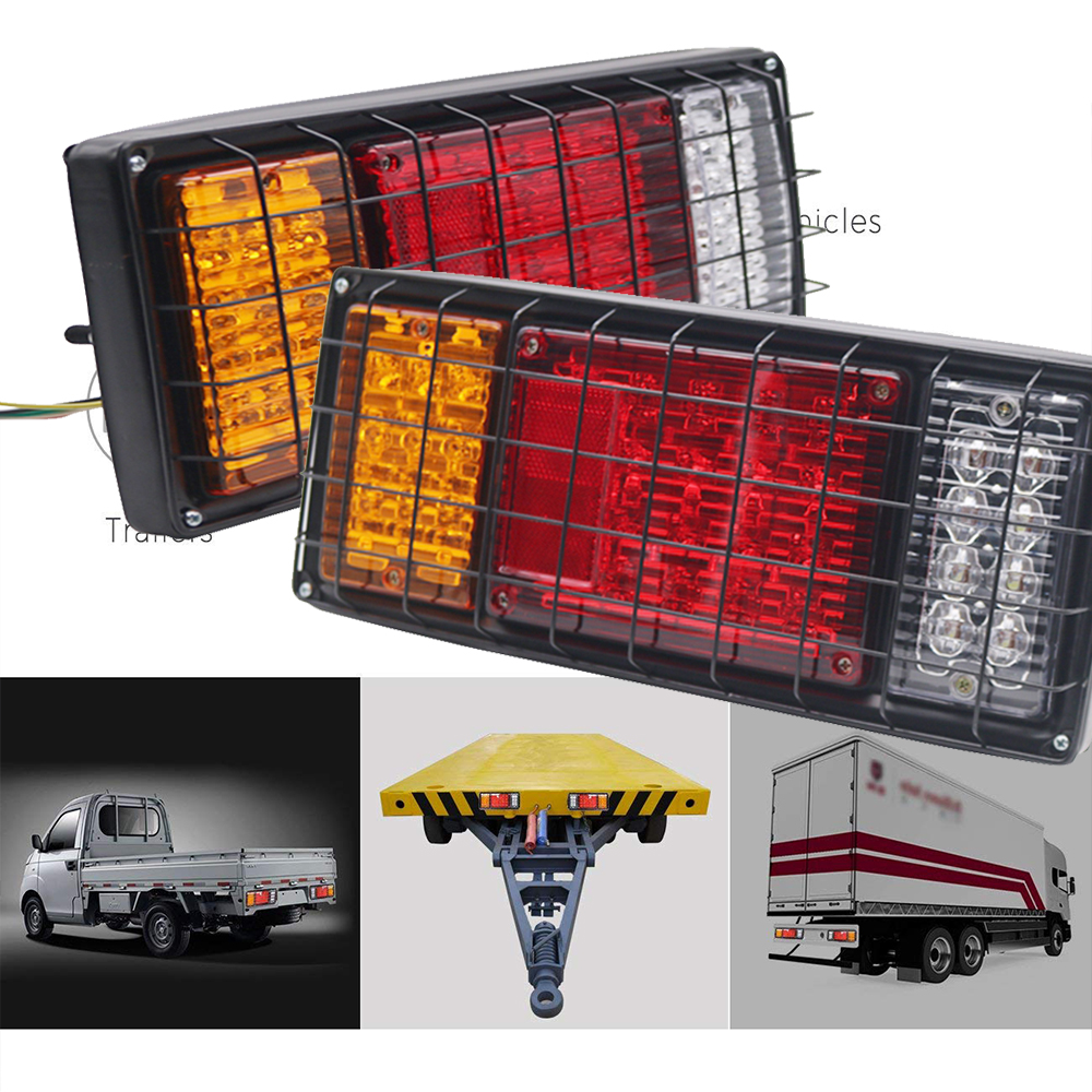 Marlaa 1 paire 40 LED s voiture LED feux arrière Stop frein lumière pour camion remorque véhicules 12 V 24 V lampe latérale rouge jaune blanc