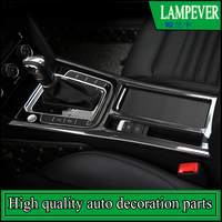 Car styling Gear panel sequins Cover trim For Volkswagen Passat B8 2017 Water Cup panel frame stickers Trim for European version
