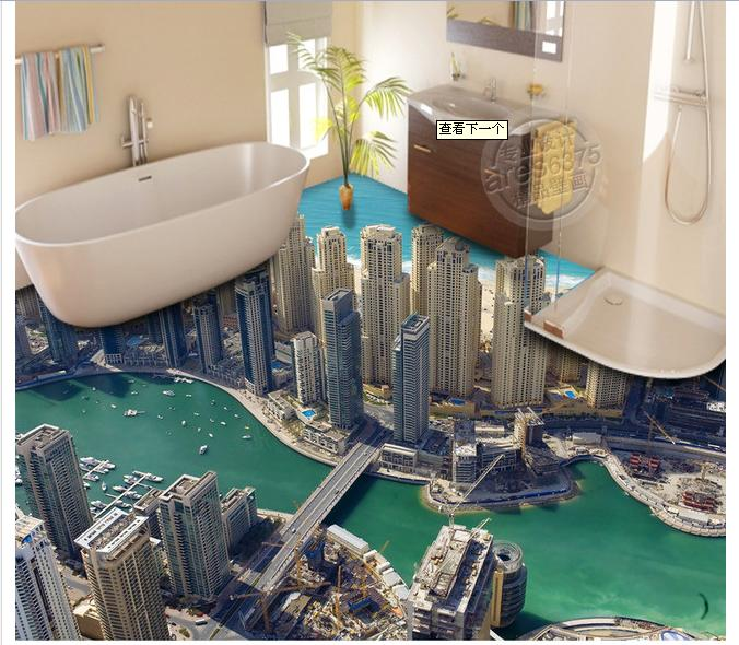 3D wallpaper custom mural pvc wallpaper High rise