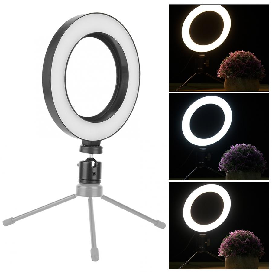 Dimmable3 Light Modes 6 inch LED Ring Light for Makeup,Live Broadcast,Tattoo. Vbestlife LED Ring Light
