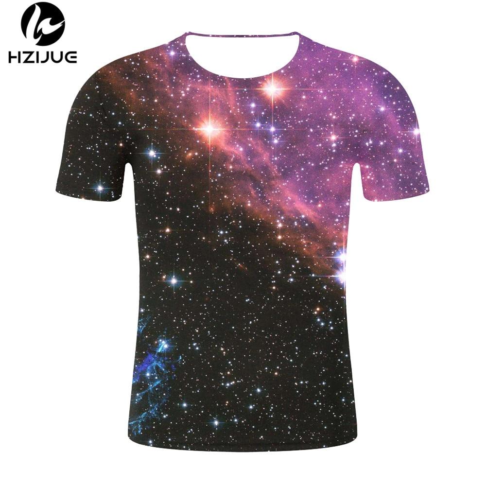 Drop Ship Fashion 3D T Shirt Male Loose Streetwear T Shirt Men Tops Universe Stars 3d Print Men's T-shirt Summer New T Shirts