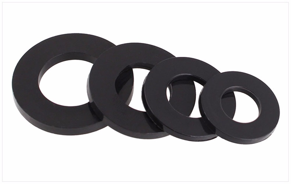 все цены на 100pcs M2 M2.5 M3 M4 M5 M6 Black Carbon Steel Flat Washer Plain Wash Insulation Gasket Metal Gasket Screw Gasket онлайн
