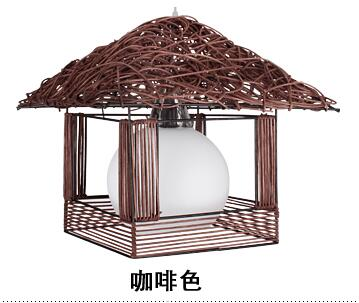 Bamboo Rattan pendant light rustic lamps rattan lamp single cage lights small house lamp white coffee pendant lamps new arrival modern chinese style bamboo wool lamps rustic bamboo pendant light 3015 free shipping