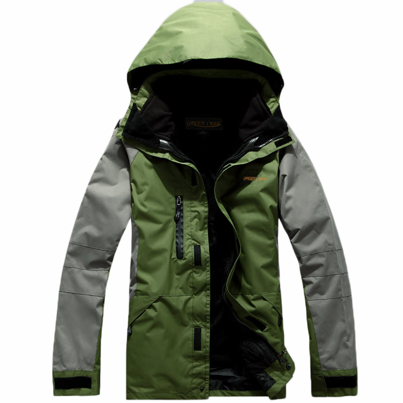 2017 Winter Outdoor Sport Ski Hiking Waterproof Jacket Men Camping Windbreaker Jaqueta Masculina 3 In 1 Coat Fleece Inner Casaco new outdoor sport windbreaker waterproof jacket men hiking camping skiing climbing winter coat fleece lining jaqueta masculino