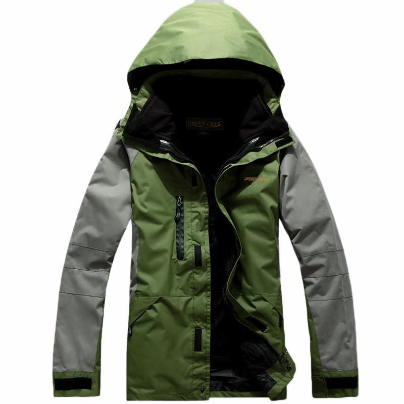 2018 Winter Outdoor Sport Ski Hiking Waterproof Jacket Men Camping Windbreaker Jaqueta Masculina 3 In 1 Coat Fleece Inner Casaco 2015 winter man casual high qaulity cotton jacket outdoors men coat jackets jaqueta masculina casaco masculino blazer