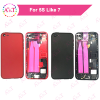 AAA For IPhone 5 5G 5S Like 7 Style Back Middle Frame Chassis Full Housing Assembly