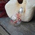 Розовый Красный Белый Babysbreath Настоящий Цветок Длинные Медные Цепи Колье Ожерелье Женщины Boho Ювелирные Изделия Винтаж Прохладный Рождественские Подарки Подвески