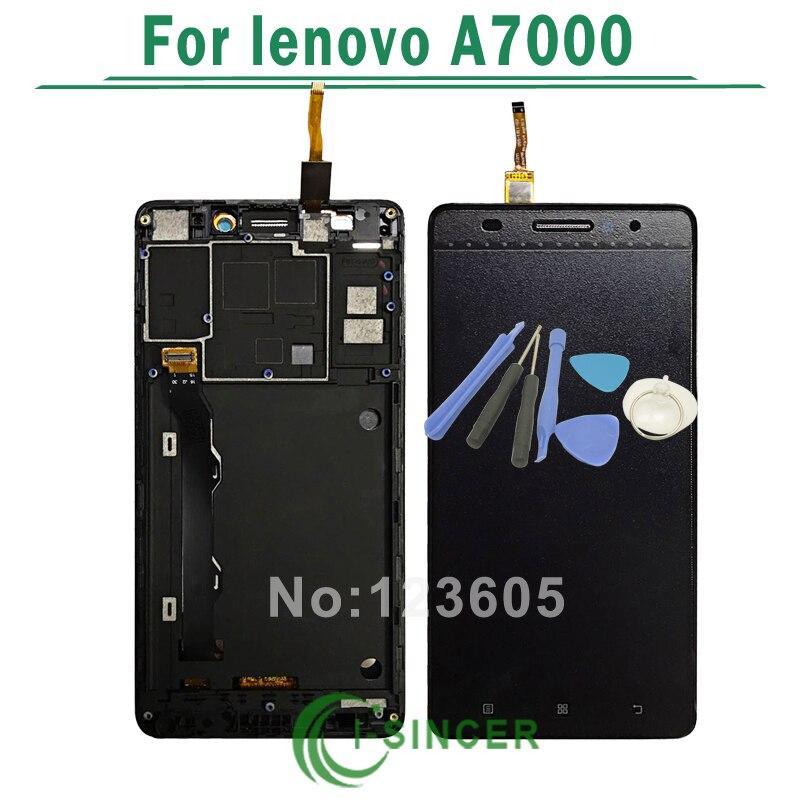 imágenes para Para Lenovo A7000 Pantalla LCD + Pantalla Táctil Digitalizador Asamblea con Marco + Herramientas de Envío Gratis