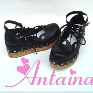 ФОТО Princess sweet lolita gothic lolita shoes custom  lolita cos punk platform cute women's lacing shoes 9833 chromophous