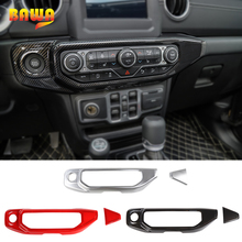 BAWA Interior Mouldings for Jeep Wrangler JL 2018 Air Conditioning Control Panel Decoration Cover for Jeep Wrangler jl стоимость