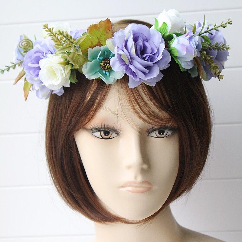 simulation penny flower wreath headband women Rattan simulation - Apparel Accessories - Photo 3