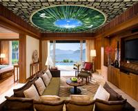 Wallpaper Non Woven 3D Ceiling White Pigeon Bamboo Forest Wallpaper On The Ceiling Living Room Landscape