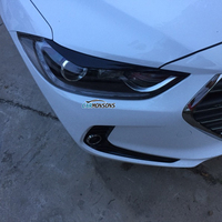 Carmonsons 2 Pcs Lot Head Light Eyebrow Eyelids ABS Chrome Decoration Trim Cover For Hyundai Elantra