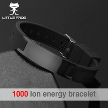 LITTLE FROG 2018 Top Quality Silicone Energy Size Can Adjust Bracelet Metal Buckle Balance Wristband Power Bangle 20002