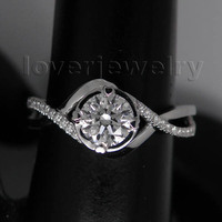 Solid 18Kt White Gold Natural Diamond Wedding Band Ring WU050