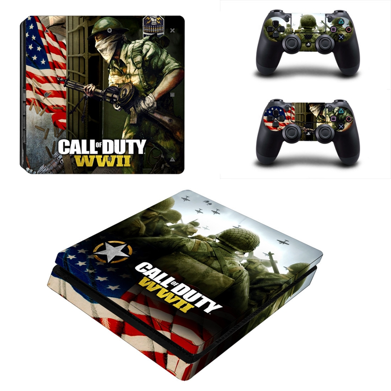 HOMEREALLY Stickers for playstation 4 Call of Duty WWII ps4 slim skin sticker playstation 4 slim stickers ps4 slim skins console