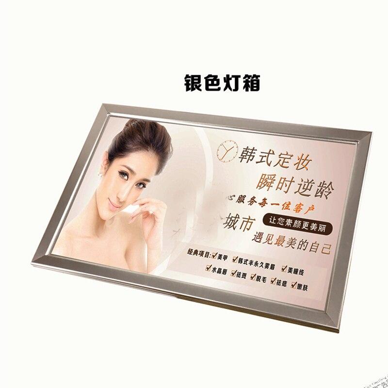 A1 Single Side Silver Aluminum Edge lit LED Snap Frame Light Boxes,illuminated Poster Display Frames