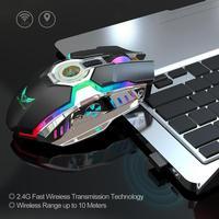 98 HXSJ ZERODATE-T30 Mouse 2.4G Wireless Mice RGB 2400DPI Adjustable Rechargeable Mouse for Windows 98/Me/2000/XP/Vista/Win7/8/10 (4)